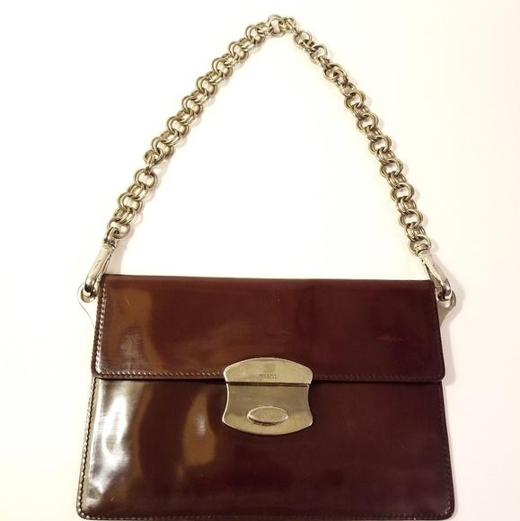7237393e131d PRADA Patent Leather Envelope Chain Clutch Bag. M_5bcc24d16197454a292ac157